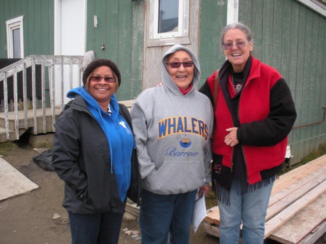 (l to r) Linda Nicholas-figueroa, Emily Wilson (Inupiat), Rose High Bear (Athabascan)
